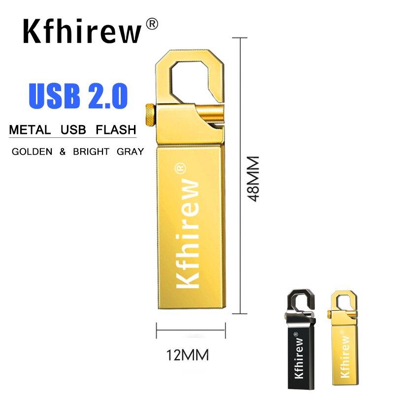 Free Shipping USB Flash Drive 64GB Metal Pendrive High Speed USB Stick 32GB Pen Drive Real Capacity 16GB 8GB USB Flash