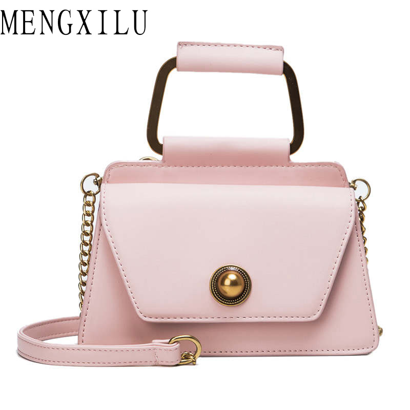 MENGXILU 2019 Fashion Top-Handle Ladies Hand Bags PU Leather Chain Shoulder Strap Crossbody Bag Summer Girls Party Messenger BagMENGXILU 2019 Fashion Top-Handle Ladies Hand Bags PU Leather Chain Shoulder Strap Crossbody Bag Summer Girls Party Messenger Bag
