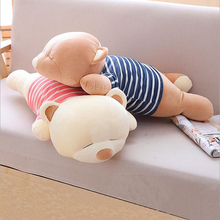 Lovely Sleep Bear Doll Eiderdown Cotton Stuffed Plush Toy Soft Plush Pillow Children Birthday Gift ngr sleep bear