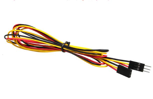 100cm 3pin DuPont Cable Female Male 3P Jumper Cable Color Cable Female To Female  Female To Male  Male To Male