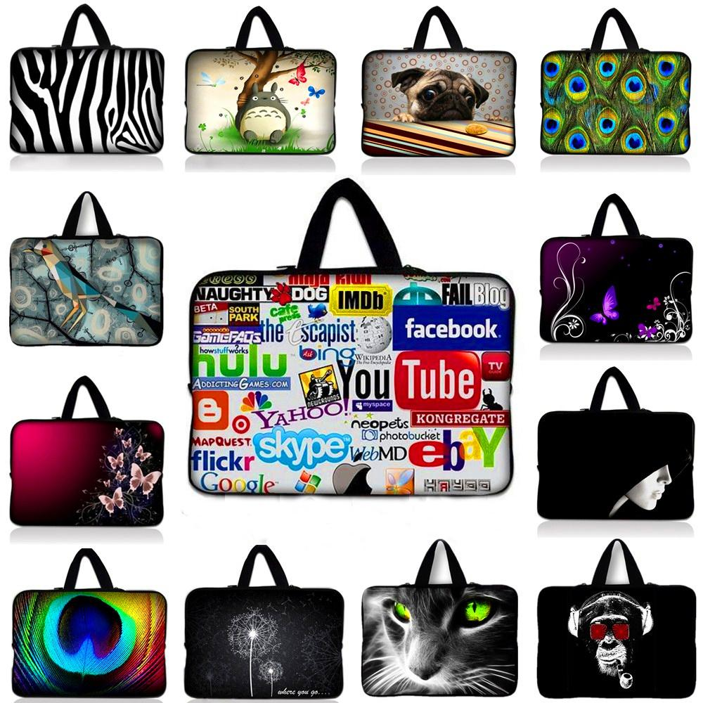 customized 15 15.4 15.6 Soft Neoprene laptop sleeve bag notebook case smart cover for macbook PC Hangbag 15 15.4 15.6 #