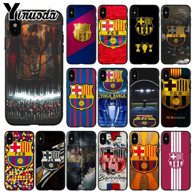 new product 69ce9 4353d US $0.51 53% OFF|Aliexpress.com : Buy Yinuoda FC Barcelona Black TPU Soft  Silicone Phone Cover for iPhone 5 5Sx 6 7 7plus 8 8Plus X XS MAX XR from ...
