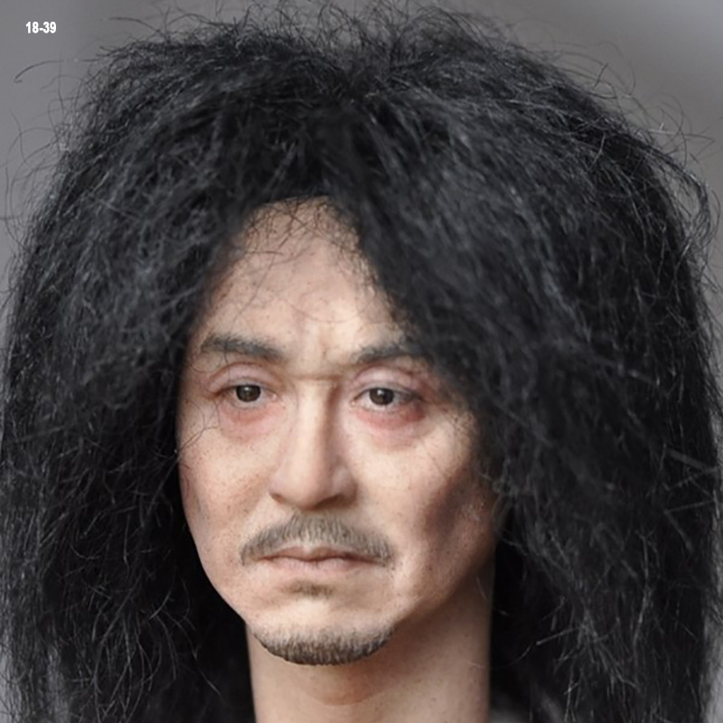 Custom 1//6 Scale KUMIK KM18-37 White Hair Female Head Carving Fit 12/'/' Figure