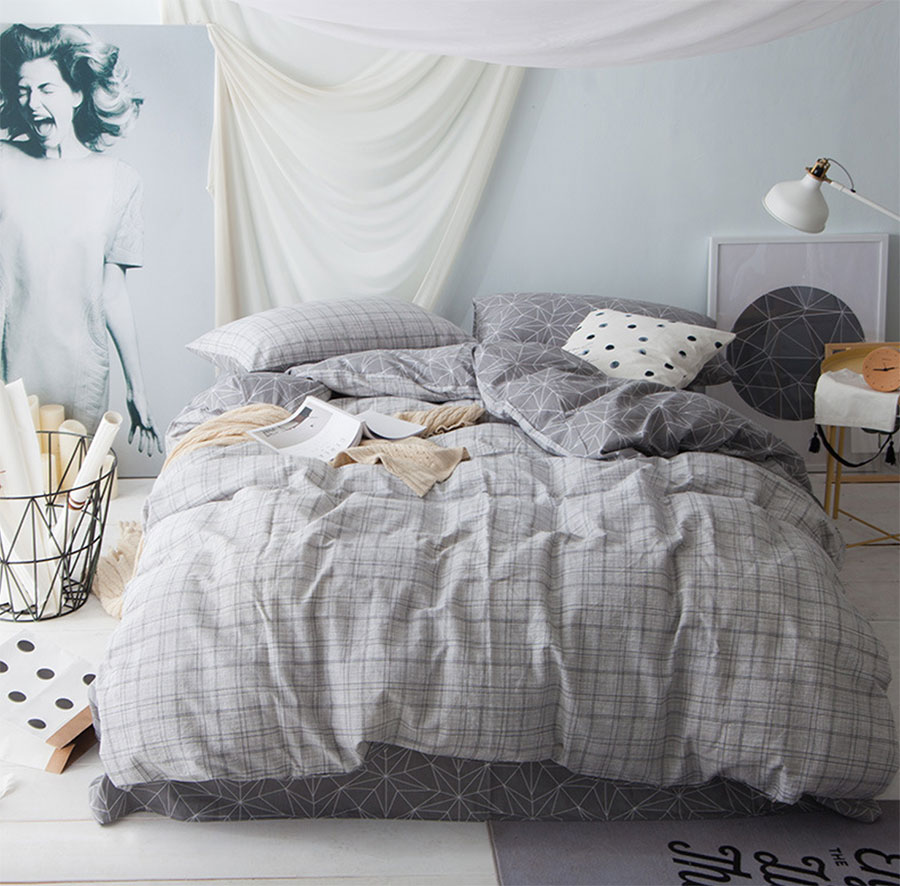 online buy wholesale modern kids bedding from china modern kids  - modern bedding set adult teen kidcotton full queen king geometricplaid home