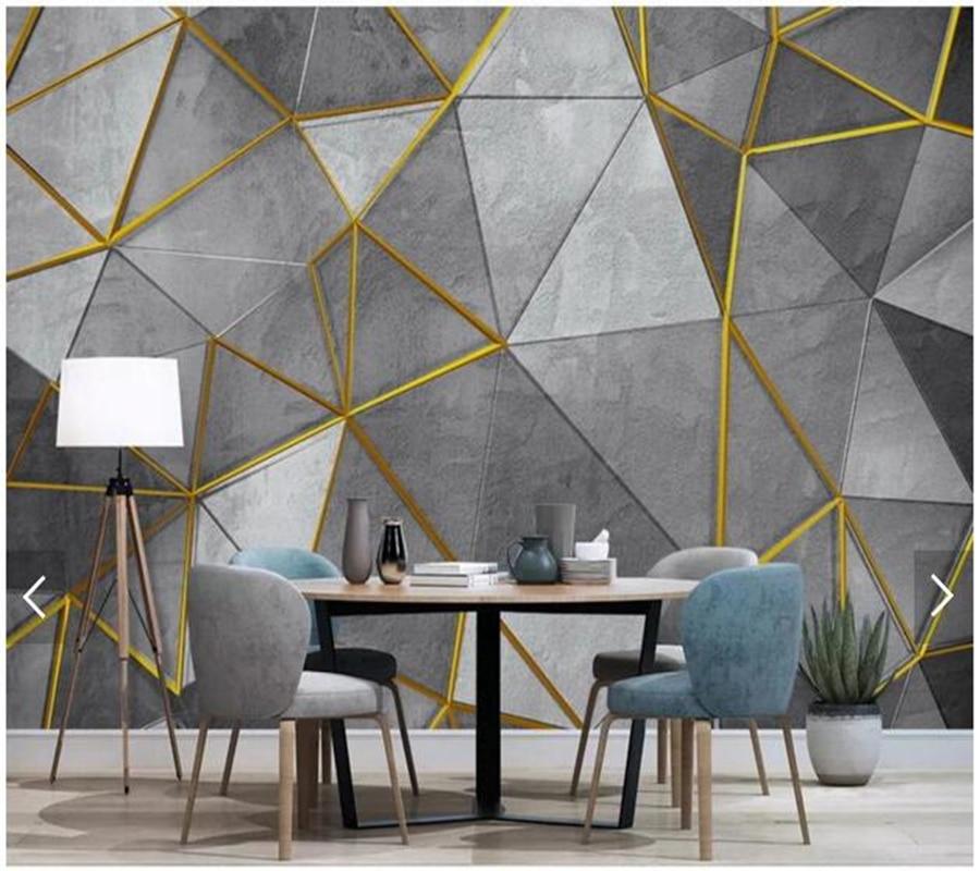 Custom 3d papel DE parede, modern abstract geometric mural ...