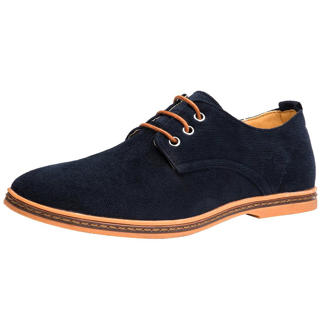 Velvet shoes--city Shoes for boy Dark blue Velvet Ribbed Man oxfords casual fall shoes with laces pocket side ribbed velvet overalls