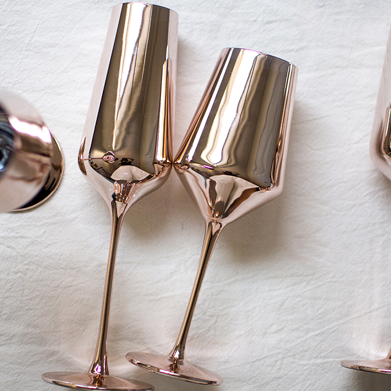 NEW Red Wine cup Champagne Cup Goblet Barware Kitchen Tools Party Supplies cocktail cup wedding drinkware gold pink wine cup in Wine Glasses from Home Garden