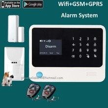 Mascotas G90B nuevo wifi sistema de seguridad para el hogar, wifi y gsm y gprs y sms sistema de alarma de control remoto de 4 vías