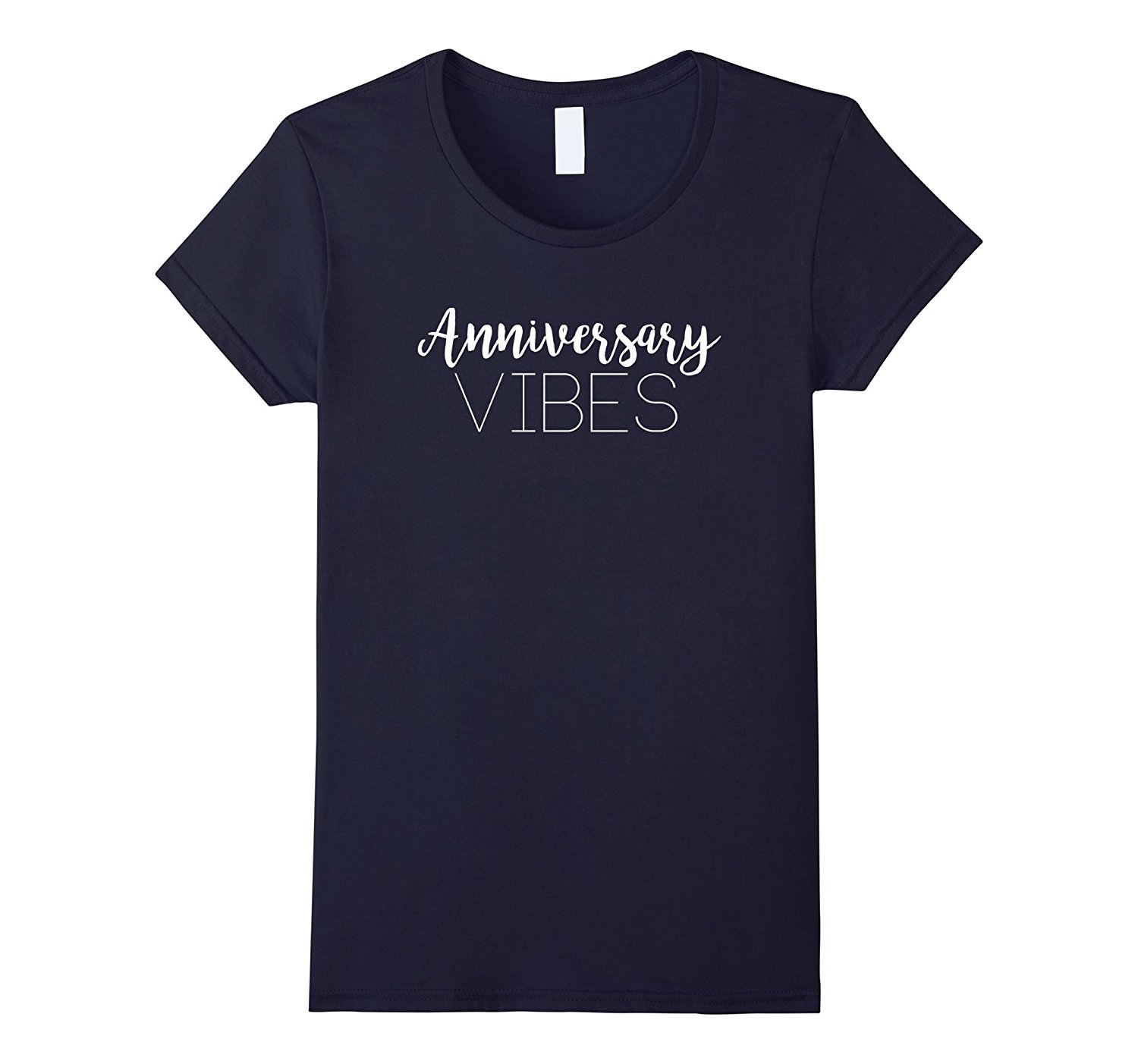 Anniversary Vibes T-Shirt Lovely Gift for Couples Women Flash Summer Short Sleeves T-Shirts  Funny Streetwear Cotton