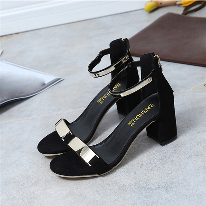 High Quality Summer Women Sandals Open Toe Flip Flops Women's Sandles Thick Heel Women Shoes Korean Style Gladiator Shoes fish mouth gladiator sandals women platform wedges shoes 2017 summer beaches ladies shoes korean style creepers women s sandles