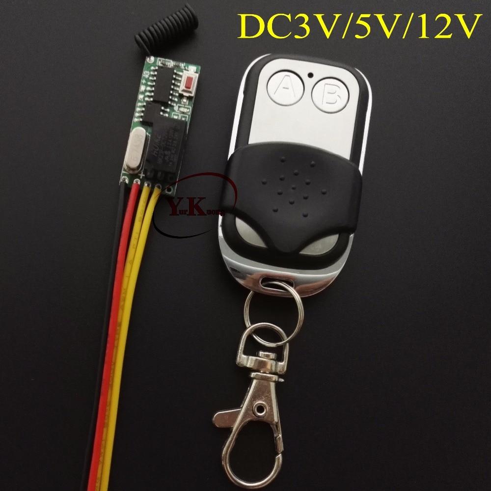 Remote Control Switch DC 3V-5V 3v 3.7v 4.5v 5v Light LED Lamp light emitting diode Lighting Remote Switch 3V 5v Relay NO COM NC dip 14 4 096m 4 096mhz 3 3v 5v