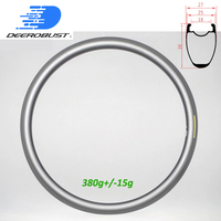 380g Tubeless Clincher 700c 38mm x 25mm U Shaped Road Bike Carbon Rim Bicycle Rims Wheel Basalt Brake Surface UD 20 24 holes