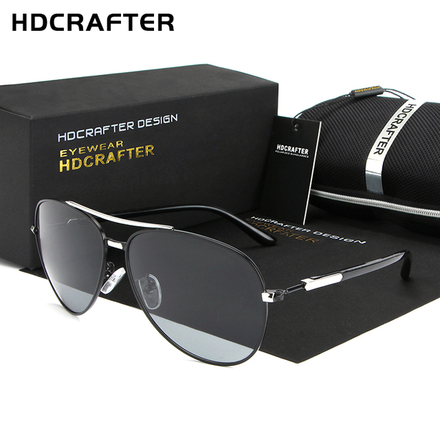 Hdcrafter 2017 alumínio frame da liga de óculos de sol de alta qualidade new acessórios oculos de sol masculino óculos polarizados para homens