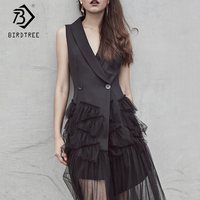 2018 Spring And Summer New Arrival Women Dresses Korean Style Elegance Sleeveless Sexy Party Dresses V Collar Hots Sale D85009LD
