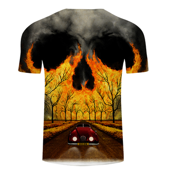 Scenery 3D t shirt Men tshirt Skull T-Shirt Summer Tees Casual Tops Short Sleeve Camiseta Male Streatwea  Asian size s-6xl 1