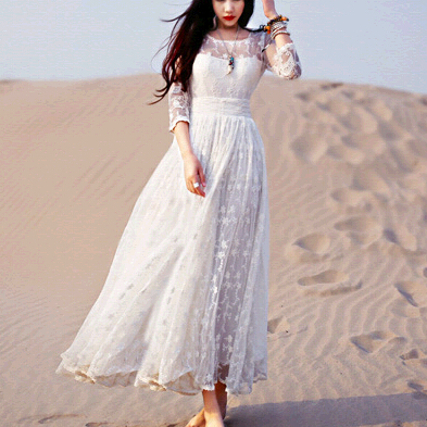 Online Get Cheap White Lace Maxi Dress -Aliexpress.com | Alibaba Group