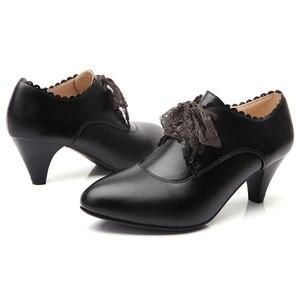 Image 3 - יין אדום YALNN חדשים למבוגרים אופנה עקב גבוה עור נשים נעלי עקבים גבוהים נשים נעלי חורף משרד ליידי משאבות עבור בנות