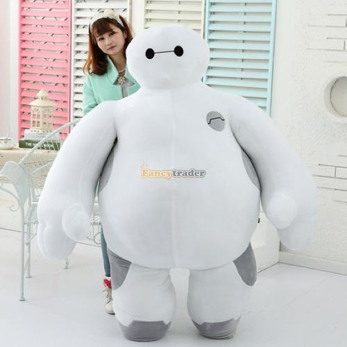 Fancytrader 59\'\' 150cm Biggest Giant Plush Stuffed Baymax Big Hero 6 Stuffed Toys, Free Shipping FT90511 (1)