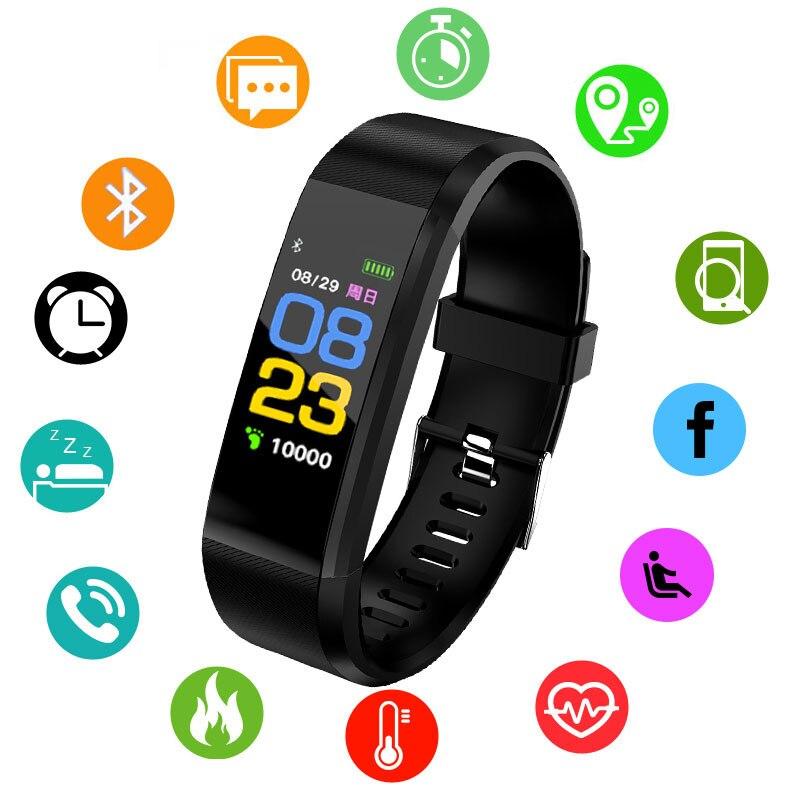 Intelligente Del Braccialetto orologi Da Polso di Frequenza Cardiaca Monitor di Pressione Sanguigna degli uomini delle donne di trasporto digitale Wristband Della Vigilanza di Sport Per IOS Android Phone