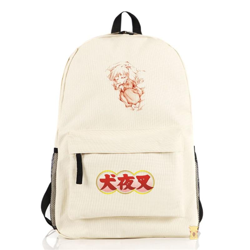 Inuyasha Backpack Anime Sesshoumaru Nylon Shoulders Laptop Bag Cartoon Schoolbag Men Women Travel Backpacks