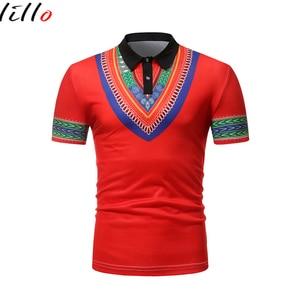 Мужская рубашка в африканском стиле, с короткими рукавами, с отворотом, Повседневная Уличная мода, Мужская одежда, дикий стиль, высокое каче...