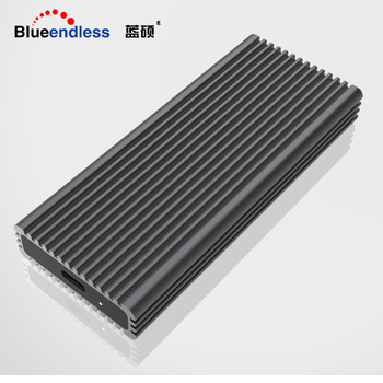 Blueendless NVME M.2 ssd cases type-c port high speed transmission hard drive enclosure heat dissipation black aluminum ssd 1