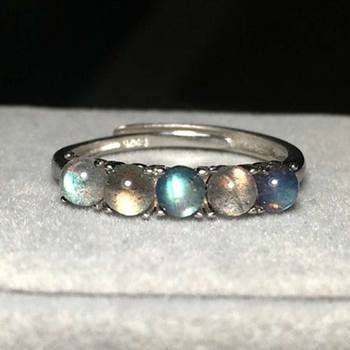 925 Sterling Silver Labradorite Moonstone Ring23