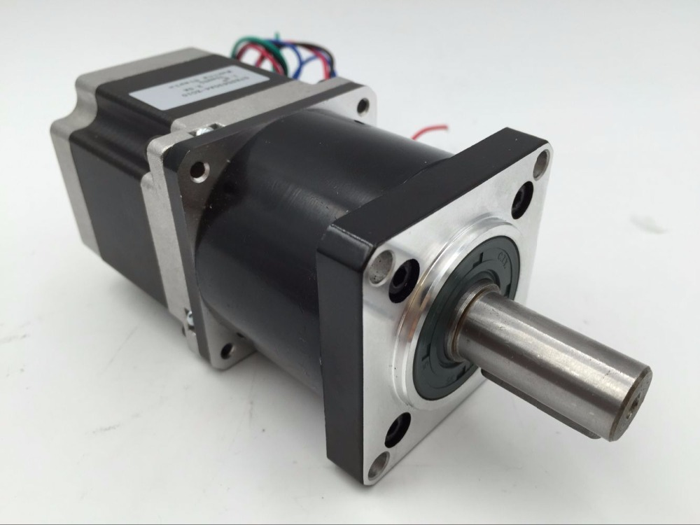 Ratio 5:1 Planetary Gear NEMA 23 Stepper Motor with Gearbox Reducer Motor L76mm 3A 1.8Nm for CNC Engraving Milling 57byg gear stepper motor ratio 5 1 gearbox l76mm 3 0a 9n m 2phase nema23 stepper motor for cnc router
