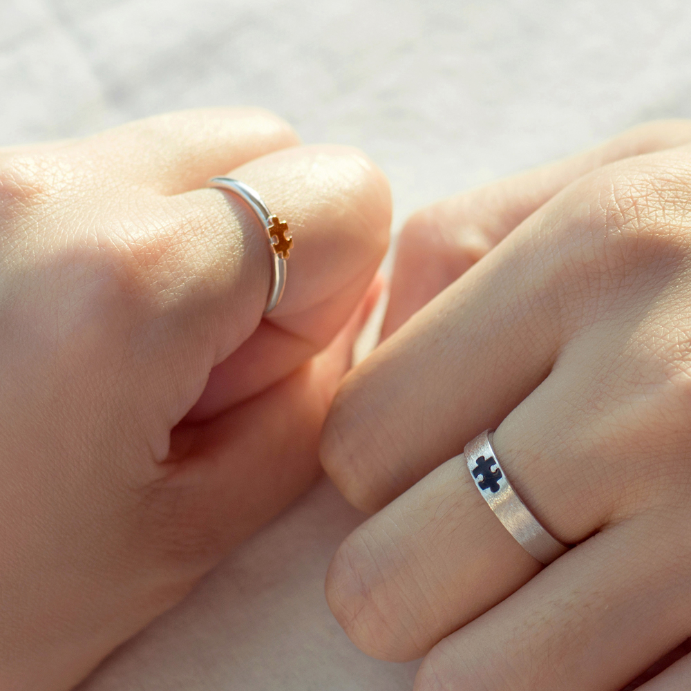 Image 4 - Thaya Rose Gold 3d Puzzle Rings Bijoux En Argent 925 Engagement Finger Ring For Women Gift Handmade Jewelry Bijoux Femme-in Rings from Jewelry & Accessories