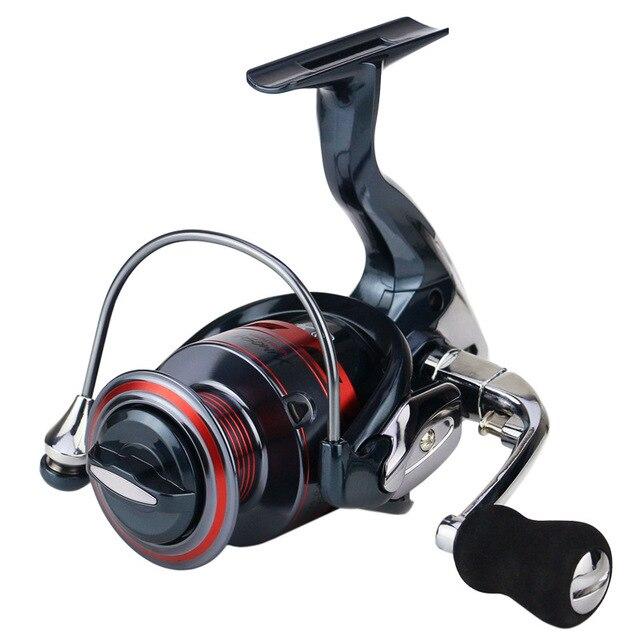 Trashion aparejos de pesca de 13 + 1BB, ruedas de pesca giratorias, bobina de pesca para Pesca de lubina, serie 1000 7000