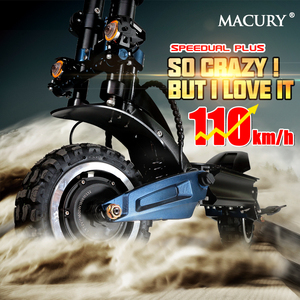 Macury Speedual Plus 11 Inch Dual Motor Electric Scooter 72V 3200W Off-road E-scooter 110km/h Double Drive Zero 11X Off Road