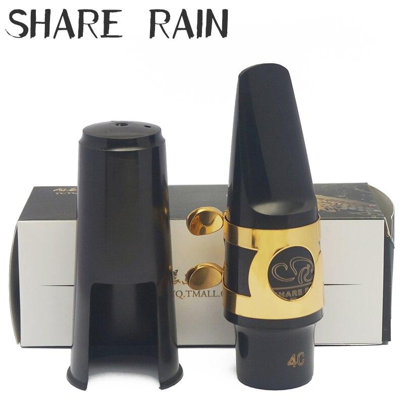 SHARE RAIN Alto Tenor Saxophone Plastic Mouthpiece Alto Saxophone Ligature Alto Saxophone Cap Alto Saxophone Mouthpiece Set