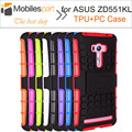 Shock-proof Case 100% New High Quality with holder Protective TPU+Hard Case Cover for ASUS Zenfone Selfie ZD551KL