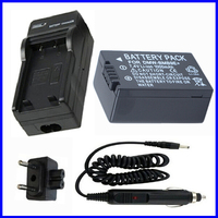 Battery And Charger For Panasonic Lumix DMC FZ40 DMC FZ45 DMC FZ47 DMC FZ48 DMC FZ60
