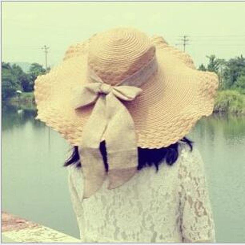 Atacado E Varejo de Moda Mulheres Ampla Grande chapéu da Borda ... 462fa84e195