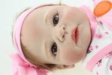 Full Silicone Vinyl 23 inch Kid Play Doll Realistic Reborn Baby Dolls Handmade Baby Toy Lifelike Princess Girl Doll