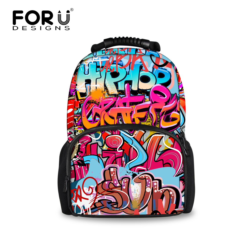 FORUDESIGNS 3D Graffiti Pattern Womens Backpack Casual Shoulder Backpacks For Teen Girls Laptop Bags Travel Rucksack MochilasFORUDESIGNS 3D Graffiti Pattern Womens Backpack Casual Shoulder Backpacks For Teen Girls Laptop Bags Travel Rucksack Mochilas