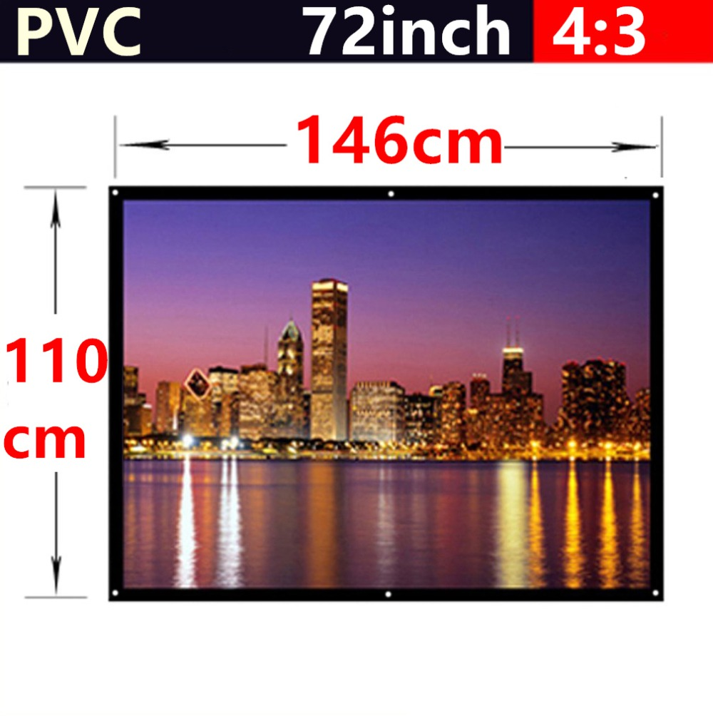 whole sale 72 Inch 4 3 PVC Fabric Matte With 1 1 Gain projection font b