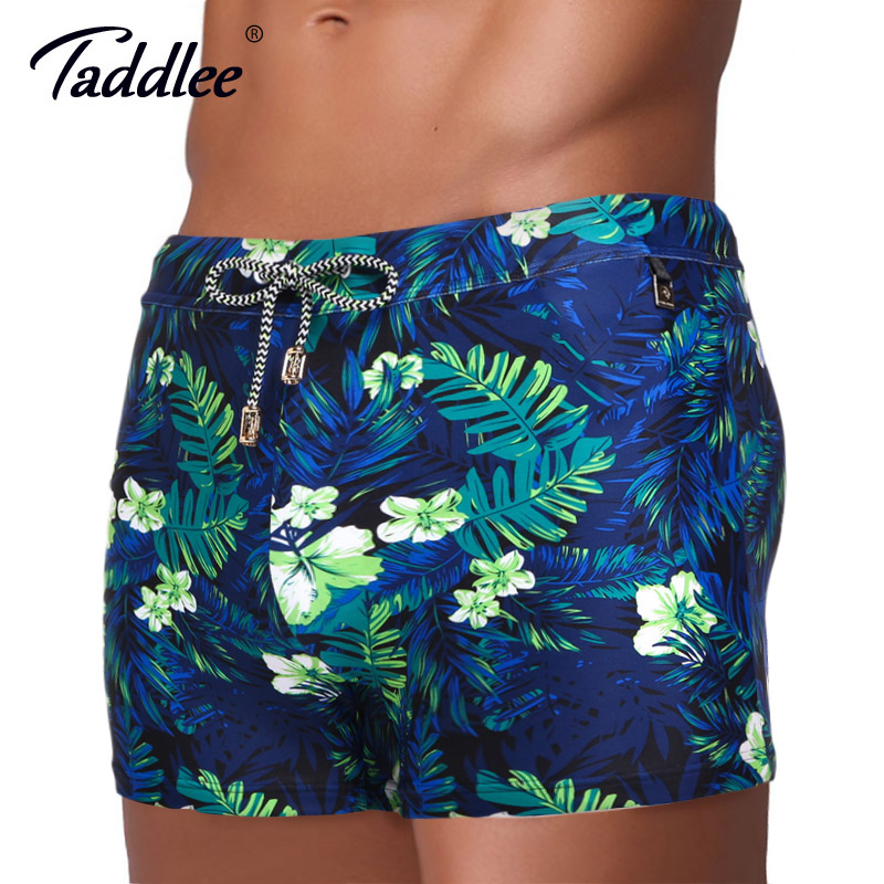 купить Taddlee Brand Men Swimwear Swimsuits Swim Boxer Trunks Board Surfing Shorts Basic High Rise Pad Front Enhance Swimming Wear