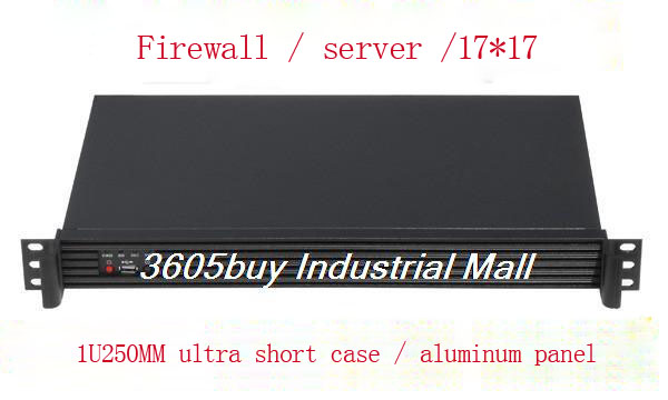 New 1U computer case firewall computer case itx industrial computer case aluminum panel ONLY CASE new computer case firewall ultra short 1u 420mm