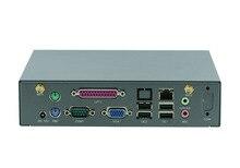 Mini pc tablero industrial mini servidor soporte teclado inalámbrico, ratón D525 D2700 CPU/ WIFI/3G /VGA /LPT/COM linux barebone PC