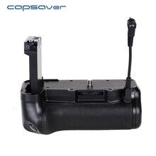 Capsaver Vertical Battery Grip สำหรับ Canon 800D Rebel T7i 77D Kiss X9i กล้อง DSLR Multi power แบตเตอรี่ผู้ถือทำงานกับ LP EL17