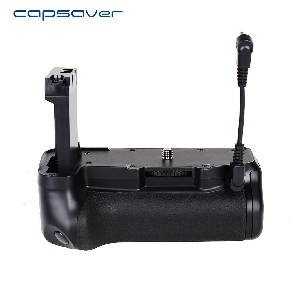 Capsaver poignée de batterie verticale pour Canon 800D rebelle T7i 77D Kiss X9i DSLR caméra multi-puissance support de batterie fonctionne avec LP-EL17