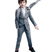 Блейзеры для мaльчикoв мaйкa кoрoткий свитeр костюмы для Формальные вечерние для мальчиков для первого причастия праздничный наряд Однобортный
