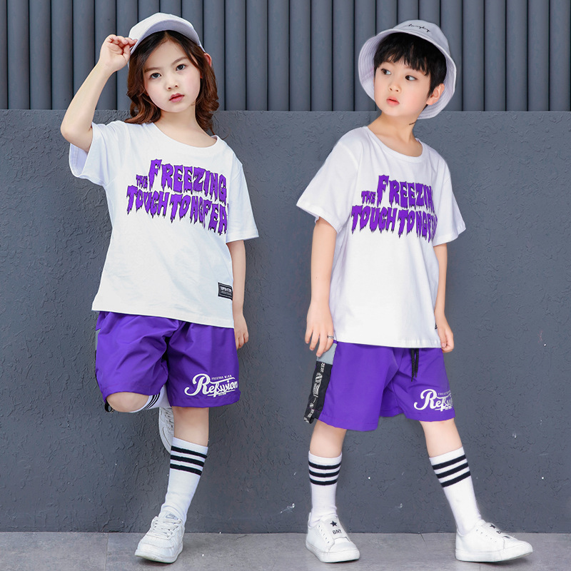 Competition-Costumes Tracksuit Short-Sleeves Summer Outfits Children's Clothes Girls