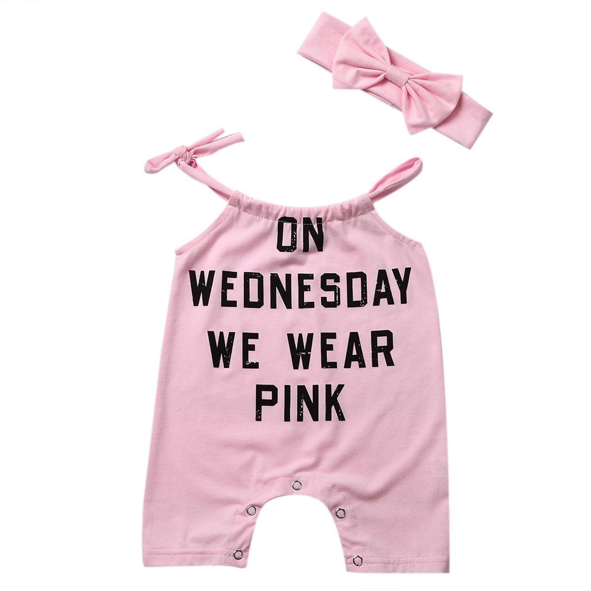 Baby Sleeveless Letter Romper Jumpsuit Sunsuit Outfit Set Playsuit Clothes Size 0-24M