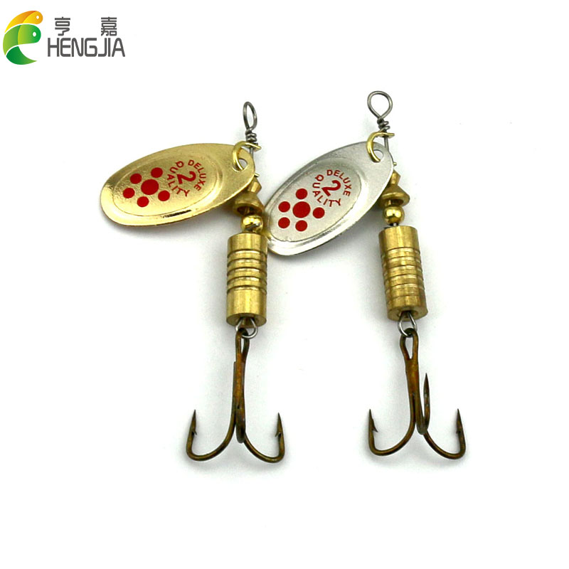 HENGJIA metal spinner spoon trolling fishing lures pike carp trout catfish fishing baits pesca fishing tackles 6.7cm 7.3g 30pcs set fishing spinner lures for pike salmon bass sequins hard baits spoon artificial lures pesca fishing tackle tools