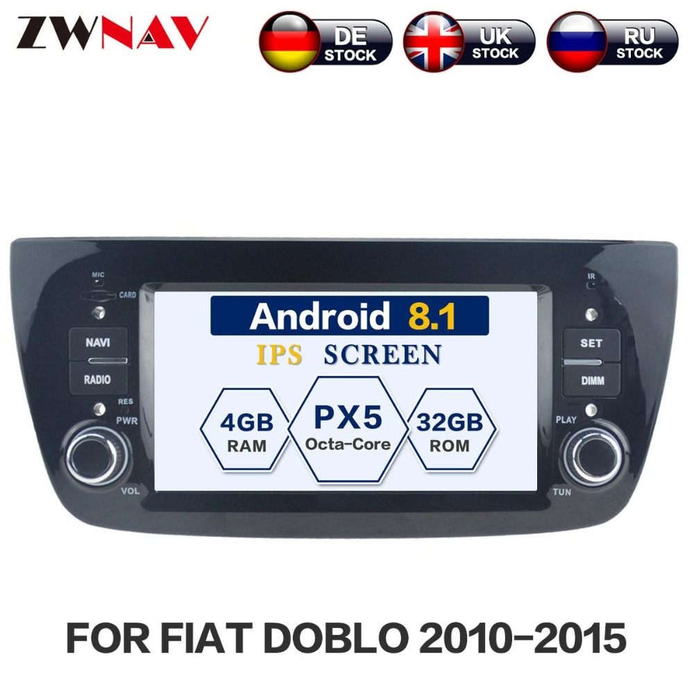 Android 8.0 32GB 7.1 Car No DVD player GPS Headunit For FIAT DOBLO Opel Combo Tour 2010-20