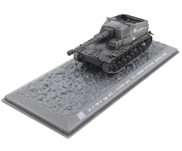 Rare boutique Warmaster 1:72 World War II German 10.5CM DICKER MAX Tank Model TK0041 Alloy model Collection model altaya german 1 72 tiger jagdtiger tank world war ii tanks heavy tanks