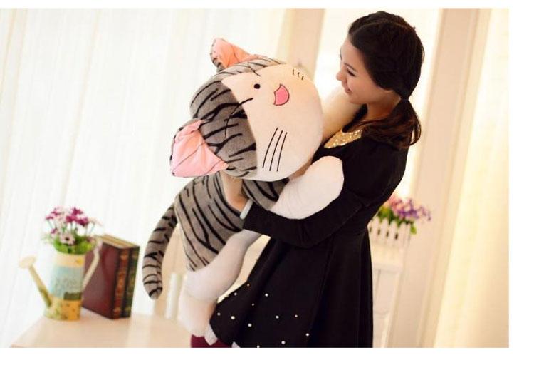 ФОТО NEW STuffed Chi's cat plush toy 100 cm squint cat chi cat doll 39 inch soft Toy birthday gift wc559